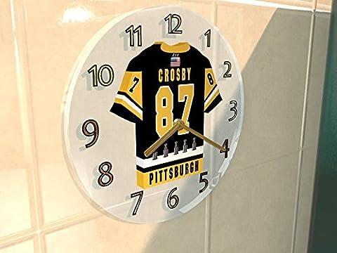 NHL Ligue nationale de hockey–Eastern Métropolitaine de Conférence–Division Jersey Horloge murale–N'importe Quel Nom, n'importe quel Nombre, n'importe quelle équipe–Sans personnalisation. PITTSBURGH PENGUINS