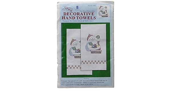 Santa Jack Dempsey Stamped Decorative Hand Towel Pair 17X28