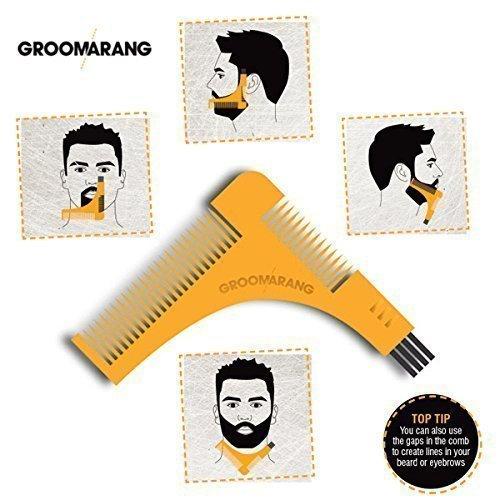 GROOMARANG barba modello pettine & barba per il perfetto Bartfom, lo styling della barba, rasatura della linea barba barba simmetrica da BLISSANY