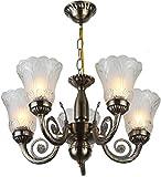 #6: Afast Unique Design Glass Chandelier with Engraved Transparent Glass Lamp A1