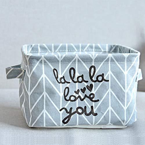 WEIWEITOE-DE Kleine Desktop Regale Aufbewahrungsbox Baumwolle Leinen Make-up Aufbewahrungsbox Organizer Tissue Box Makeup Items Aufbewahrungskoffer, grau, -