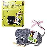 LOLLIPOP® 1 Stück 'Maus' originelles Geldgeschenk, Filz, mit Schleife, ca. 8,5 x 10,5 cm