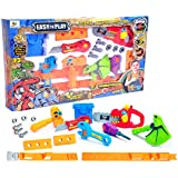 Toys Bhoomi 17 Piece Take Apart Dinosaur Robot Electronic Saw Play Tools Toy Set For Kids Toys Adjustable Tool Belt Puzzles Games With Sounds And Lights (661-352)