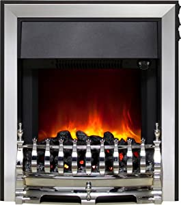 Be Modern Chrome Fazer Electric LED Fire with Top Side Control
