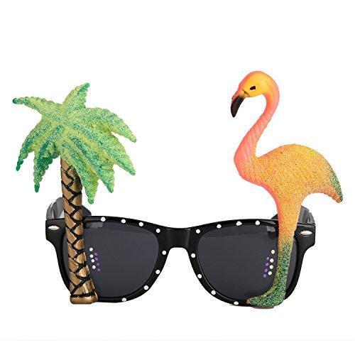 Sonnenbrille Partbrille Spaßbrille für Cosplay Flamingo Brille Strand Party Accessoire Halloween Kostüm zum (Flamingo Kostüme Erwachsene)