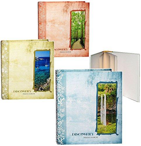 alles-meine.de GmbH 1 Stück _ großes Fotoalbum -  Traum Urlaub  - incl. Name - Gebunden zum Einkleben - blanko weiß - groß - 100 Seiten für bis zu 600 Bilder - 10x15 - Fotobuch..