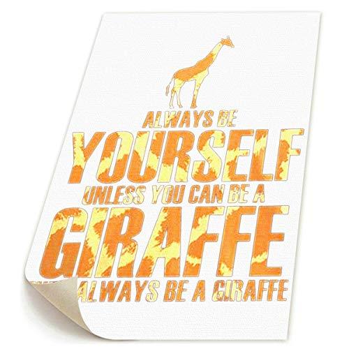 SDGYGSNi Giraffe Kunst, handbemalte Landschafts-Blumen-Wandkunst, abstrakte Palette, weiße Kirschblüte, Ölgemälde auf Leinwand, Familienzimmer, Wohnzimmer, Wanddeko, gespannt und gerahmt