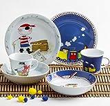 Kahla 32F259O76643C Kids Abenteuerexpress Schatzpirat Kindergeschirr Geschirr-Set für Jungs bunt rund 6 teilig Set Tasse Suppenteller Teller