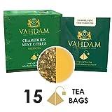 #8: VAHDAM Chamomile Mint Citrus Green Tea Leaves, 15 Tea Bags, Long Leaf Green Tea Bags, 100% Natural Detox Tea, Weight Loss Tea, Slimming Tea - Chamomile, Orange Peels, Peppermint, Spearmint