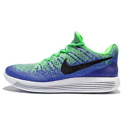 Nike Herren Lunarepic Low Flyknit 2 Laufschuhe blau, 42.5 EU (Schuhe Nike 9 Blau Herren)