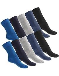 10 Paar Socken von footstar für Sie und Ihn aus der EVERYDAY!-Kollektion - In Schwarz und Jeans - Größen 35-50 wählbar! - Qualität von celodoro