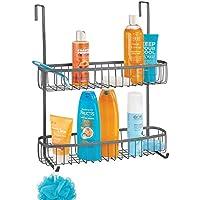 mDesign Estanterías de baño para colgar – Práctico colgador de ducha sin  taladro – Estantes para a6030792c0f8