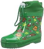 Playshoes Stivaletti da Pioggia Caldi Animali, Stivali in Gomma Naturale con Fodera Calda Unisex - Bambini, Verde Gruen 29, 23 EU