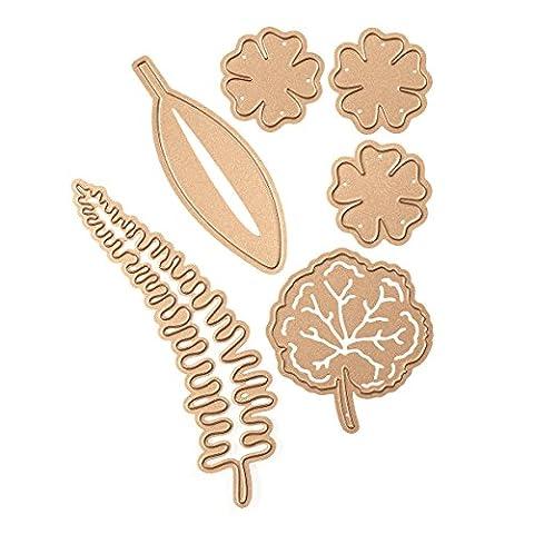 Spellbinders Shapeabilities, Geranien und Blätter sterben, braun