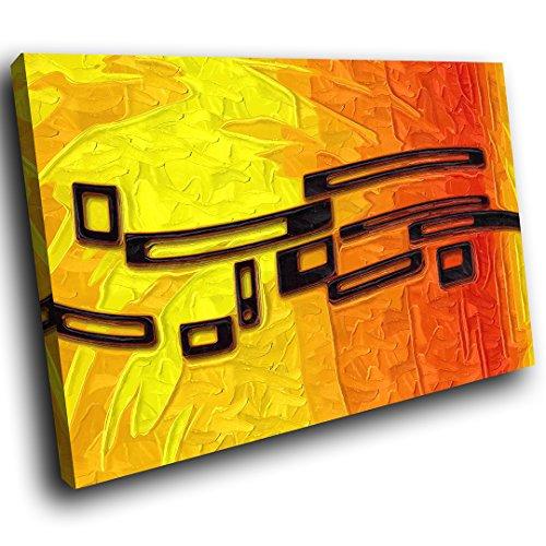... AB508C Gerahmte Leinwanddruck Bunter Wand Kunst   Orange Gelb Schwarz    Modernes Abstraktes Wohnzimmer Schlafzimmer