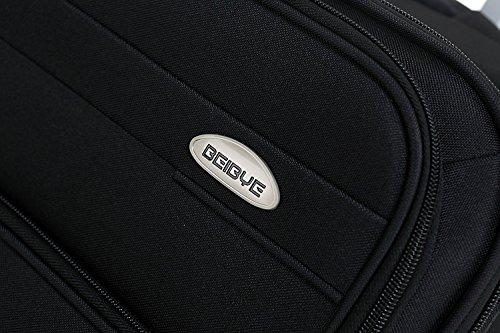 BEIBYE 4 Rollen Reisekoffer 8005 Stoffkoffer Gepäck Koffer Trolley SET-XL-L-M in 5 Farben Schwarz