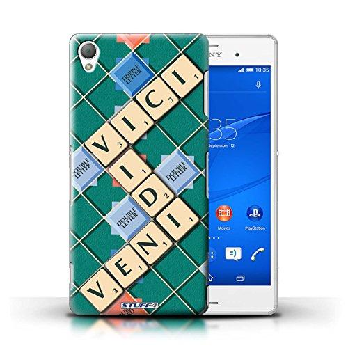 Kobalt® Imprimé Etui / Coque pour Sony Xperia Z3 / Ignorance Béatitude conception / Série Mots de Scrabble Veni Vidi Vici