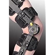 Breg - Rodillera ortopédica (versión mejorada inspirada en la T-Scope ROM, dial amarillo, ajustable, similar a la Breg NHS, aprobada)