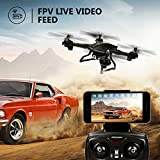LBLA EDF FPV Drone with WiFi Camera Live Video Headless Mode 2.4GHz 4 CH 6 Axis Gyro RTF RC Quadcopter, Compatible with 3D VR Headset, Black