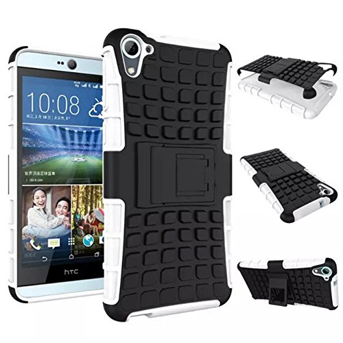HTC Desire 826 Case DRUnKQUEEn Heavy Duty Rugged Hybrid Armor Dual Layer Hard Shell Tire Tread Grenade Grip Combat Tyre Textured Cover with Kickstand