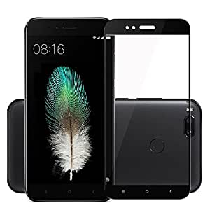 Micomy Screen Protector,Mangix Full Cover Tempered Glass Screen Protector with Anti-Fingerprint HD Screen Protector Film for Xiaomi Mi 5x (Black)