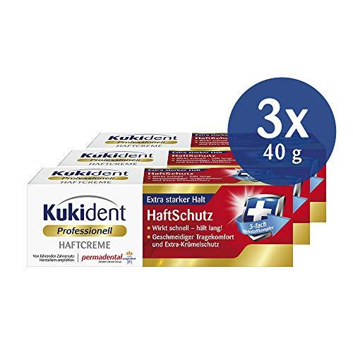 Kukident Haftcreme Haftschutz für die Dritten, 3er Pack (3 x 40 g)