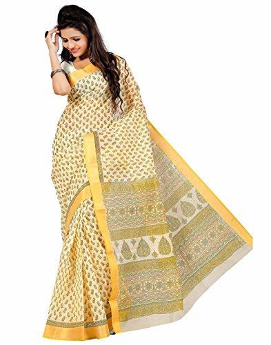 Roopkala Silks & Sarees Cotton Saree(MA-1001_Cream)