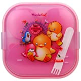 WonderKart® BPA Free Lion Star Kids Lunch Box - Pink (Print May Vary)