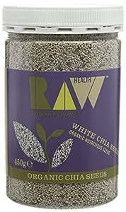 Raw Health Organic White Chia Seeds, 450g