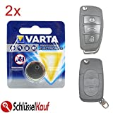 2 Stück VARTA Autoschlüssel Batterie für Audi A3 A4 A5 A6 A8 TT Klappschlüssel