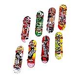 Sharplace 8er-Set Fingerskateboard, Finger Skateboard, Fingerboard Kit