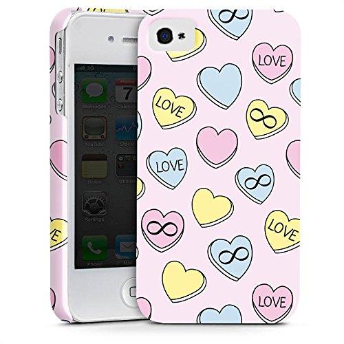 Apple iPhone X Silikon Hülle Case Schutzhülle Love Herzen Bunt Premium Case glänzend