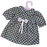 Bayer Design - Vestido para muñecas, color moreno y rosa con puntos (83829)