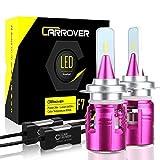 CAR ROVER Lampadine H7 LED 10800LM Fari Abbaglianti o Fendinebbia per Auto, Kit Sostituzione per Alogena Xenon Luci-12V-24V Lampada 6000K Bianco
