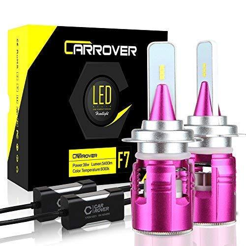 CAR ROVER Lampadine H7 LED 10800LM Fari Abbaglianti o Fendinebbia per Auto, Kit Sostituzione per Alogena Xenon Luci-12V Lampada 6000K Bianco