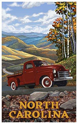 North Carolina Travel Poster Kunstdruck von {Künstler. fullname} ({outputsize. shortdimensions}) 12x18 inch