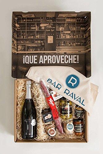 Geschenkkorb Spanische Feinkost – Bar Raval Tapas Box Barcelona, ein vielfältiges Geschmackserlebnis für einen gelungenen Tapas-Abend