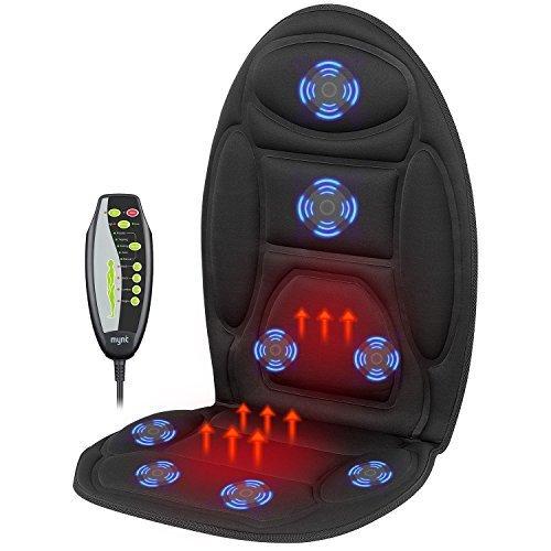 EvoFit RANG #1 in Massageauflagen mit Wärmefunktion für Auto | Vibrationsmassage | Sitzheizung | 2019 Edition | Auto Büro oder zu Hause | Service aus Deutschland (Auto Sitzheizung)