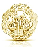 Insignia ADMNINISTRACION DE JUSTICIA Plata 1ª Ley Plata 1ª Ley chapada en oro (Estuche Incluido)