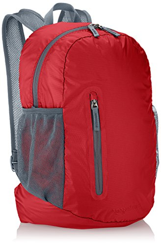 AmazonBasics Ultra thin Foldable Day Pack, Red, 35L