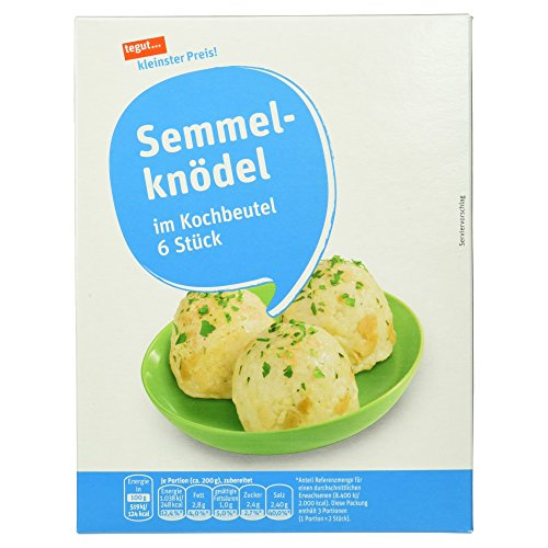 Tegut kleinster Preis Semmelknödel, 6 Stück, 200g Test