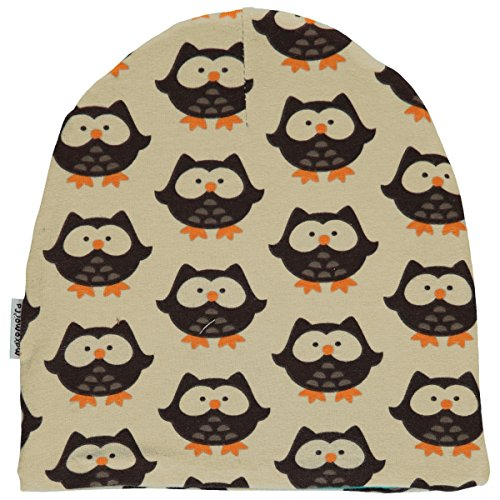Maxomorra Jungen Velour Beanie Mütze Owl (52/54)