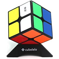 Cubelelo QiYi QiDi 2x2 Black Puzzle Speed Cube Magic Toy