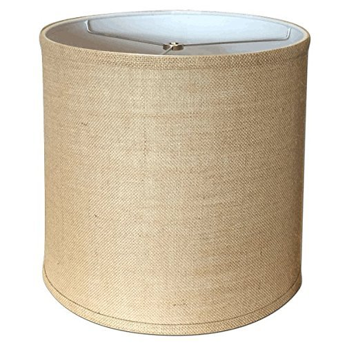 Preisvergleich Produktbild A Ray Of Light 121312BUR 12-Inch by 13-Inch by 12-Inch Brown Burlap Drum Shade by A Ray Of Light