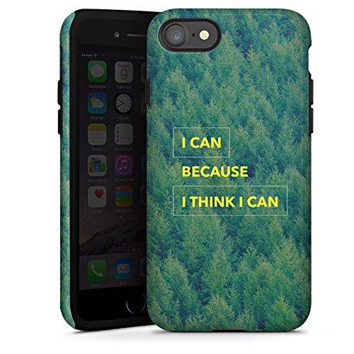 Apple iPhone X Silikon Hülle Case Schutzhülle Motivation Fitness Statement Tough Case glänzend