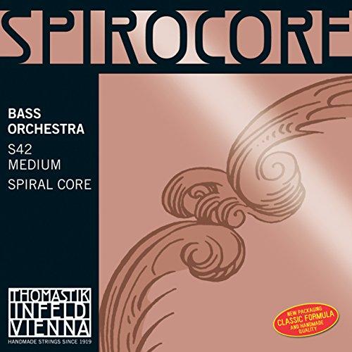 Thomastik 644243 Saiten für Kontrabass Spirocore Spiralkern Orchesterstimmung, Satz 3/4 mittel für Mensur 1040-1060 mm / 41-41.7 Zoll