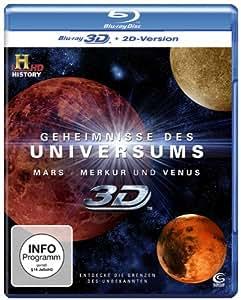 Geheimnisse des Universums 3D - Mars/Merkur/Venus (History) [3D Blu-ray + 2D Version]