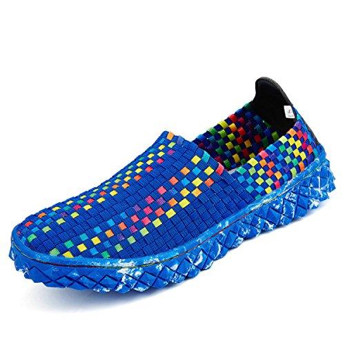 Lxxaunisexe Été Élastique Portable Respirant Sports Sandales Sport Sandales À Séchage Rapide Chaussures De Course Athlétique Bleu Sneakers