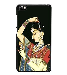 Rajasthani Girl Painting 2D Hard Polycarbonate Designer Back Case Cover for Xiaomi Mi 5 :: Redmi Mi5