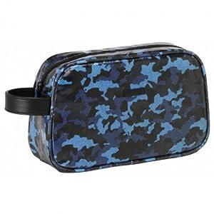 MOOS- Neceser Grande Color Azul, Negro, 26 cm (SAFTA 861638699)